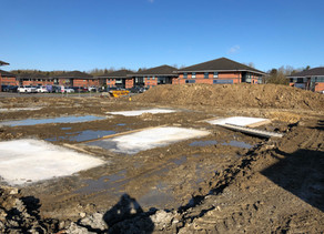 Groundworks Progress at Berrymoor Court