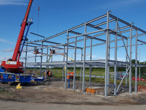 Erection of Steel at Hownsgill Industrial Estate