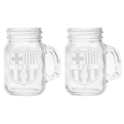 מארז של 2 כוסות זכוכית ברצלונה - giantballs.co.il