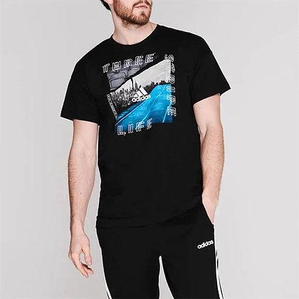 חולצת אדידס גברים | adidas ID Photo T Shirt - giantballs.co.il
