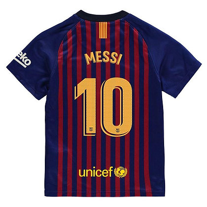 Nike Barcelona Lionel Messi Home Shirt 2018 2019 Junior