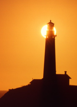 Lighthouse Revealing Sun