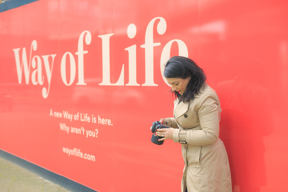 Photography is a way of life, outside a sign in Leicester city centre
