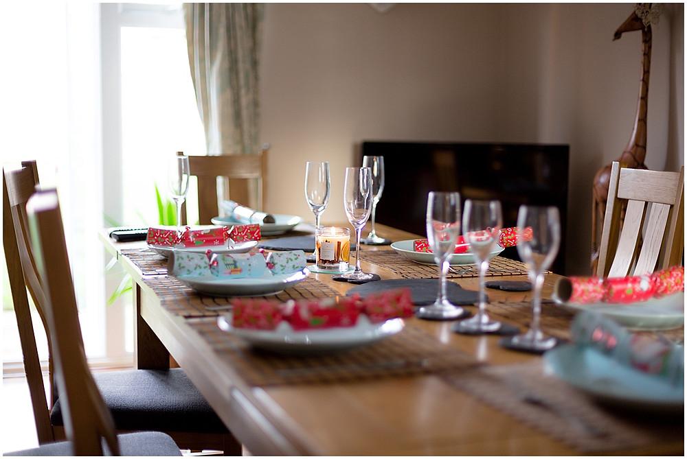 Christmas 2017 simple table setting