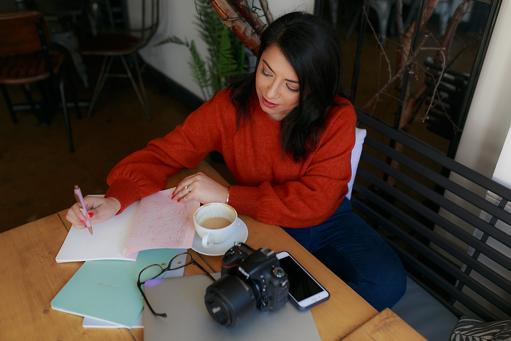 Photographer working during personal branding photoshoot