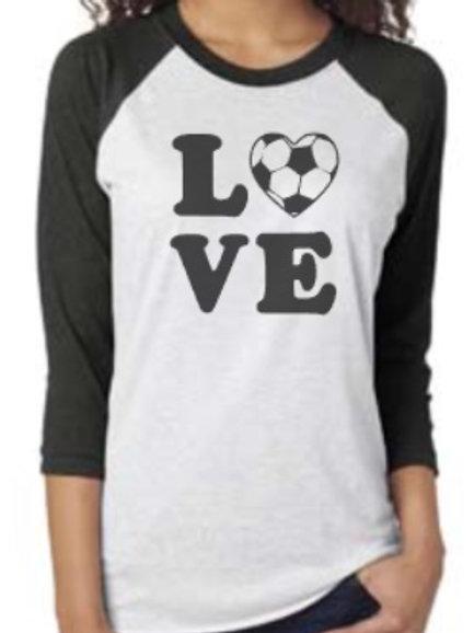 Soccer Love Soft Raglan