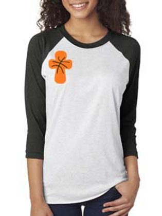 Basketball Cross Raglan