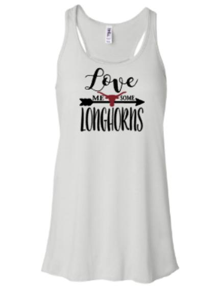 Love Me Some Longhorns Flowy Tank