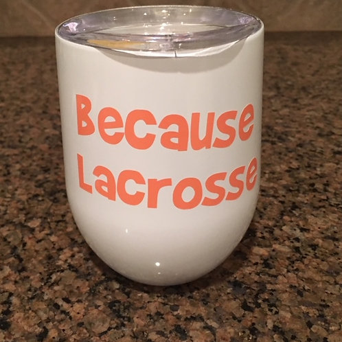 Lacrosse Stainless Steel Egg Cup with Lid & Decal