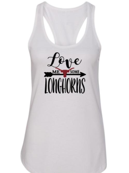 Love Me Some Longhorns Racerback Tank