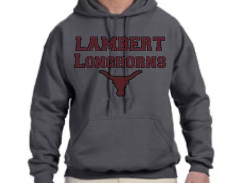 Adult Lambert Lacrosse Words Hoodie