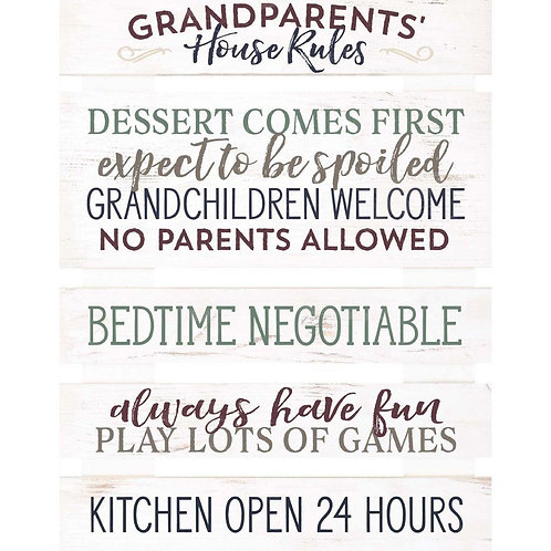 Grandparent's House Rules Sign