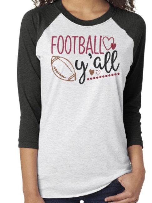 Football Y'all Raglan