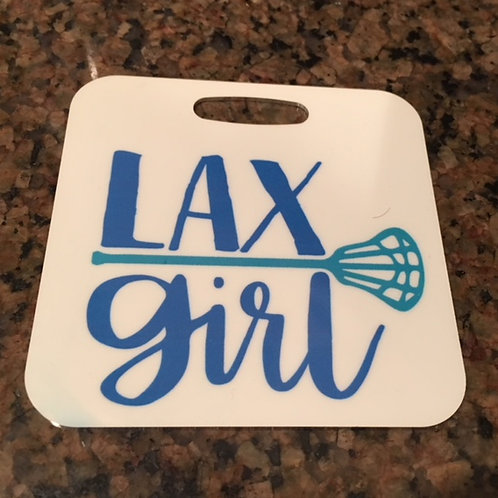 Customized LAX Girl Bag Tag