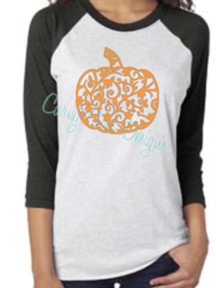 Flourish Pumpkin Raglan