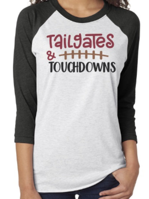 Tailgates and Touchdowns Raglan