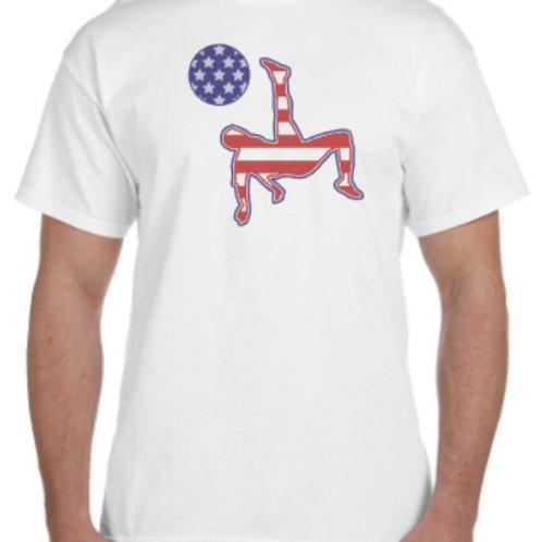 American Flag Soccer Player Shirt