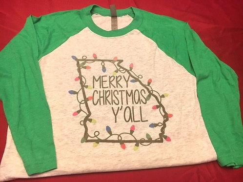 Georgia Christmas Raglan