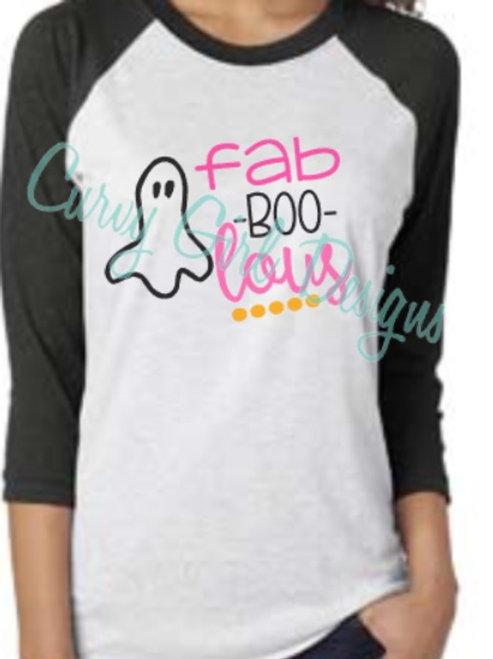 FaBOOlous Halloween Raglan