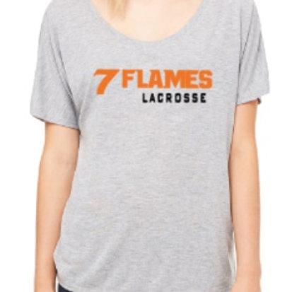 7 Flames Lacrosse Ladies Scoop Tee