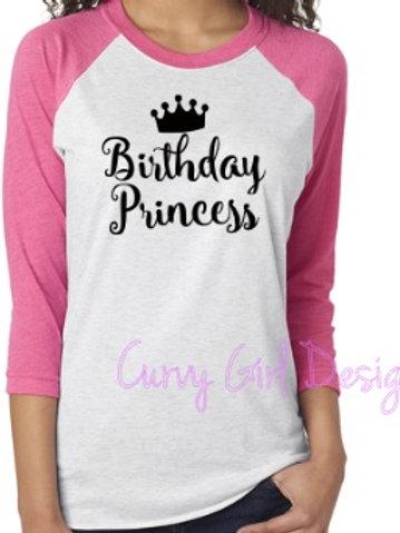 Birthday Princess Raglan