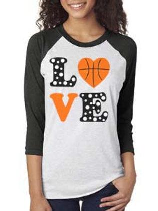 Basketball Love Raglan