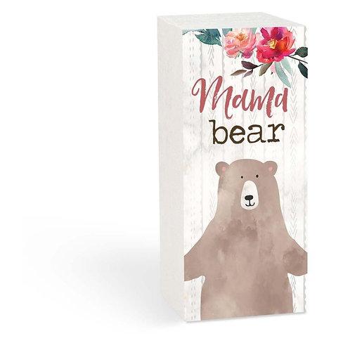 Mama Bear Wood Block