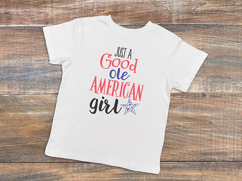 Just a Good Ole American Girl Youth Shirt