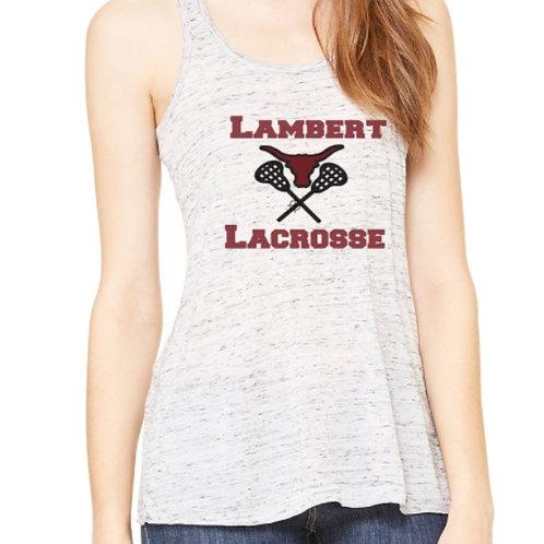 Ladies Flowy Racerback Lambert Lacrosse Tank