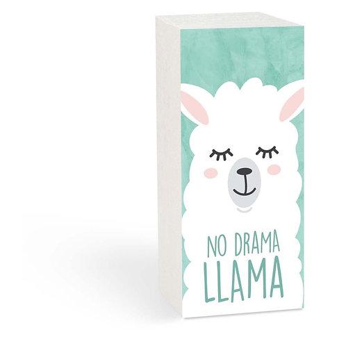 No Drama Llama Wood Block