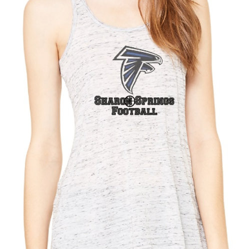 Sharon Springs Football Flowy Racerback Tank