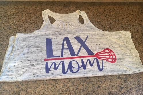 LAX Mom Flowy Racerback Tank