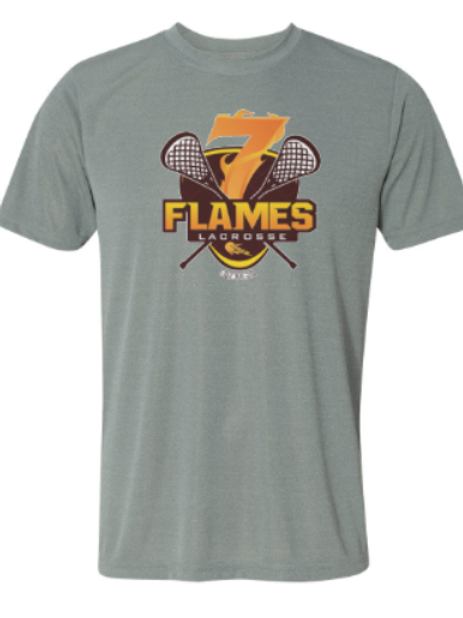 Youth 7 Flames Logo Lacrosse Dri Fit Shirt