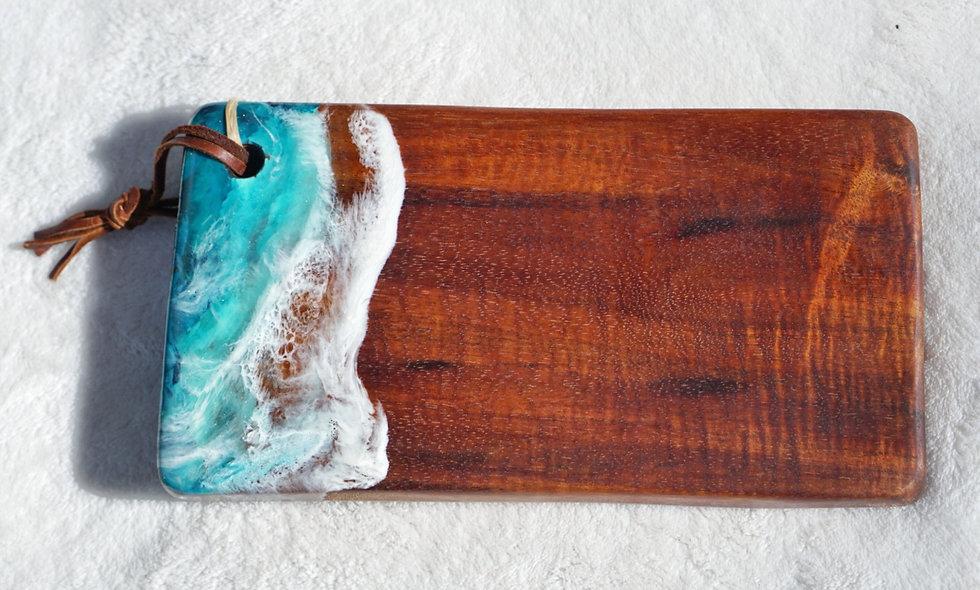 Curly Koa Wood & Resin Rectangle Board