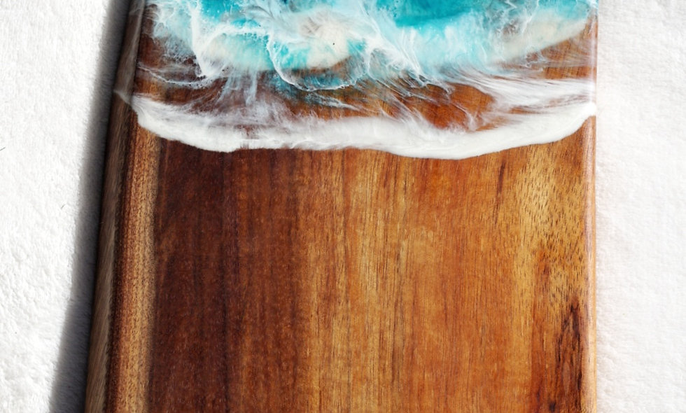 Koa & Ocean flow Resin Serving board