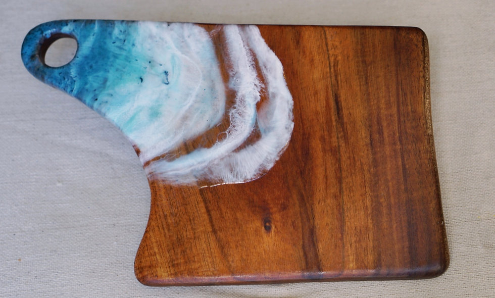 Koa Wood & Resin Serving Board