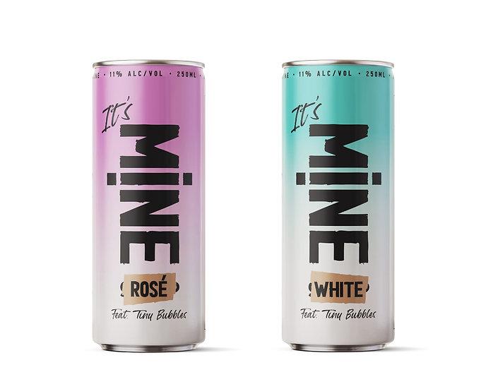 MINE mix- ארגז של 24 פחיות יין לבן ורוזה