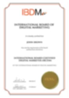 digital marketing international board certification