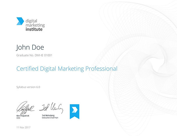 Certified Lecturer Digital Marketing Institute การตลาดออนไลน์
