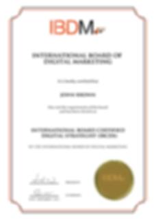 International board certified digital strategist