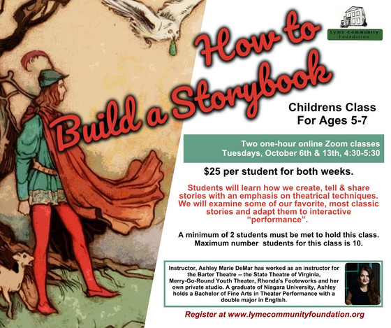 How to Build a Storybook: Theater class for Children Ages 5-7