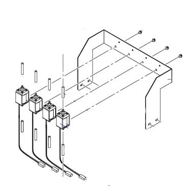 Mutoh VJ1624 Subtank Solenoid (Set of 4)