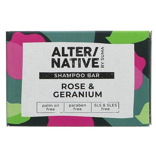 ALTER/NATIVE SOLID SHAMPOO BAR ROSE & GERANIUM