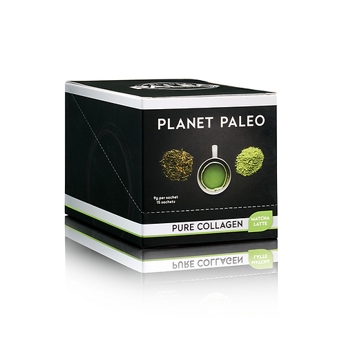 PLANET PALEO PURE COLLAGEN MATCHA LATTE 15 SACHETS