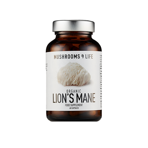 MUSHROOMS4LIFE ORGANIC LION'S MAINE (60 CAPS)