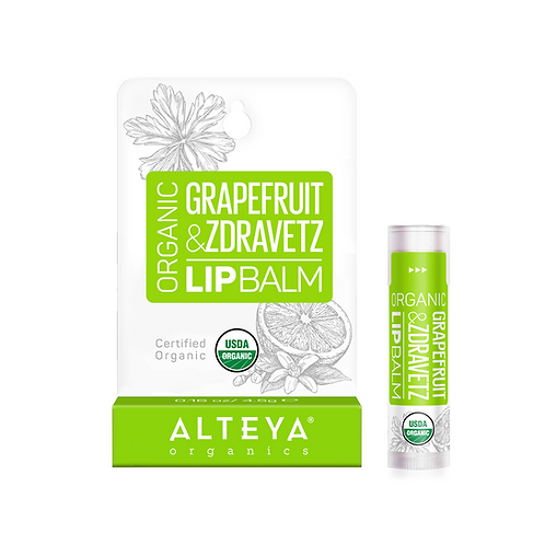 ALTEYA ORGANIC LIP BALM GRAPEFRUIT & ZDRAVETZ