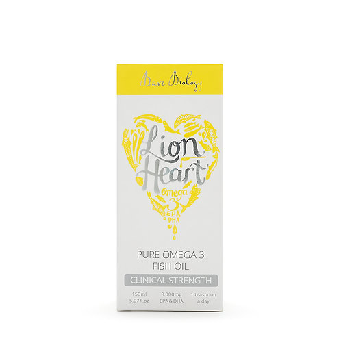 BARE BIOLOGY LION HEART OMEGA 3 FISH OIL LIQUID (150ML)
