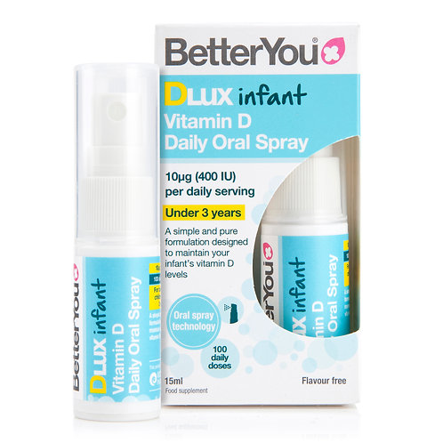 BETTERYOU DLUX INFANT 400IU (10ΜG) VITAMIN D3 ORAL SPRAY 15ML