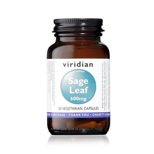 VIRIDIAN SAGE EXTRACT 600MG (30 CAPS)