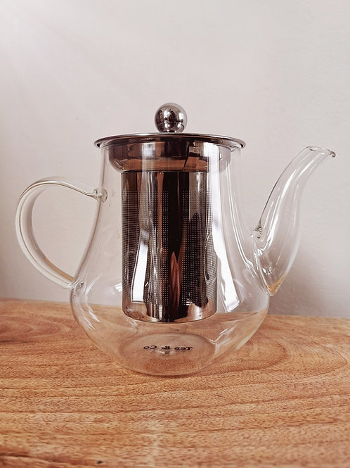 GLASS TEAPOT WITH STAINLESS STEEL INFUSER (700ml)